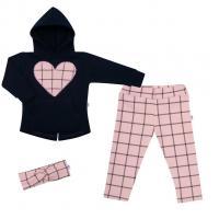 Mikina a leginy New Baby Cool Girls , Velikost - 62 , Barva - Modro-růžová