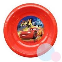 PLASTOVÝ TALÍŘ CARS 3D , Barva - Červená