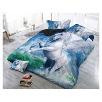 POVLEČENÍ JEDNOROŽEC , Barva - Modrá , Rozměr textilu - 140x200