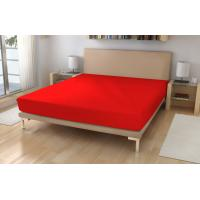 Jersey prestieradlo EXKLUSIVE , Barva - Červená , Rozměr textilu - 90x200