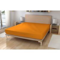 Jersey prestieradlo EXKLUSIVE , Rozměr textilu - 90x200 , Barva - Oranžová