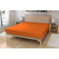 Jersey prestieradlo EXKLUSIV Sýto oranžová , Barva - Oranžová , Rozměr textilu - 180x200