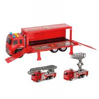 Auto kamion výsuvný se 2 auty , Barva - Červená