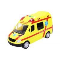 Auto sanitka s efekty 22 cm , Barva - Žltá