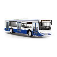 Autobus který hlásí zastávky česky 28 cm , Barva - Modrá