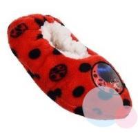 PAPUČE KÚZELNÁ LIENKA , Velikost boty - 25-26 , Barva - Červeno-bílá