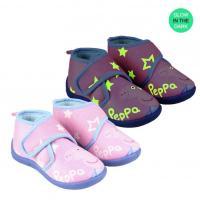 BAČKORY PEPPA PIG svítící , Velikost boty - 21 , Barva - Ružová