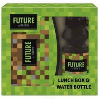 BOX NA SVAČINU A LÁHEV NA PITÍ Backup , Velikost lahve - 330 ml , Barva - Zelená