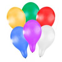 Balónik nafukovacie 27 cm metalický 6ks , Barva - Barevná