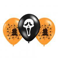 Balónik nafukovacie s potlačou Halloween 3ks , Barva - Barevná