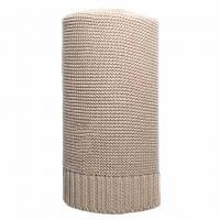 Bambusová pletená deka NEW BABY , Barva - Béžová , Rozměr textilu - 80x100