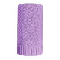 Bambusová pletená deka NEW BABY , Barva - Fialová , Rozměr textilu - 80x100