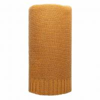 Bambusová pletená deka NEW BABY , Barva - Žltá , Rozměr textilu - 80x100