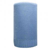 Bambusová pletená deka , Barva - Modrá , Rozměr textilu - 80x100