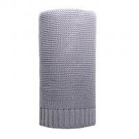 Bambusová pletená deka NEW BABY , Barva - Šedá , Rozměr textilu - 80x100