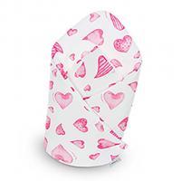 Bambusová zavinovačka Belisima hearts , Barva - Ružová , Rozměr textilu - 75x75