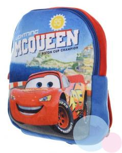 BATOH CARS plyš , Barva - Modro-červená