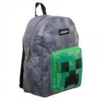 Batoh Minecraft , Barva - Šedo-zelená