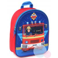 Batoh Požiarnik Sam 3D , Barva - Modro-červená