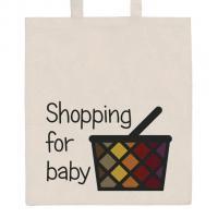 Nákupní taška přírodní Shopping , Barva - Béžová