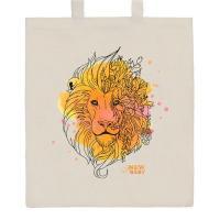 Nákupní taška přírodní Lev , Barva - Béžová