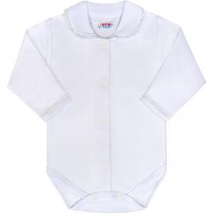 Bavlnené celorozopínací dojčenské body New Baby Princess , Barva - Biela , Velikost - 68