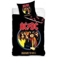 Povlečení AC/DC Highway to Hell , Barva - Čierna , Rozměr textilu - 140x200