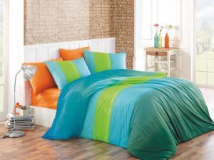 Obliečky Colorful , Barva - Modro-zelená , Rozměr textilu - 140x200