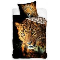 Povlečení Leopard , Barva - Čierna , Rozměr textilu - 140x200