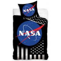 Obliečky NASA Silver Stars , Barva - Čierna , Rozměr textilu - 140x200