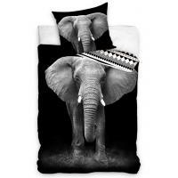 Povlečení Slon Africký , Barva - Čierna , Rozměr textilu - 140x200