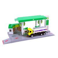 Benzínová stanice s cisternou , Barva - Zelená