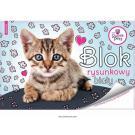 Blok na kreslenie Sweet Pets Mačiatko , Barva - Modrá