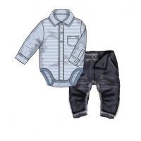 Body a nohavice Baby , Barva - Modrá , Velikost - 56/62