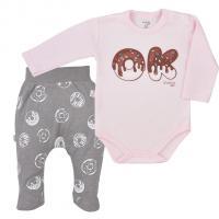 Body a polodupačky Koala Yummy , Velikost - 68 , Barva - Šedo-růžová