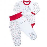 Body a polodupačky New Baby Hedgehog , Barva - Bielo-červená , Velikost - 68