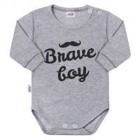 Body Brave boy , Barva - Šedá , Velikost - 50