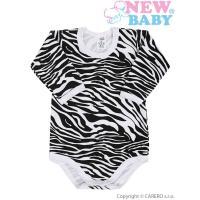 Body celopotlačené Zebra , Barva - Biela , Velikost - 80