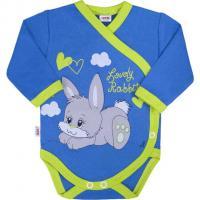 Body celorozepínací Lovely Rabbit , Barva - Modrá , Velikost - 52