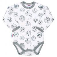 Body celorozepínací New Baby Emotions , Barva - Biela , Velikost - 62