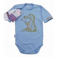 Body Krokodíl s dlhým rukávom , Barva - Modrá , Velikost - 62
