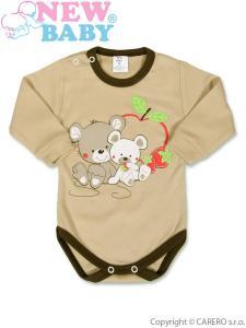 Body Myšky s jahôdkou , Barva - Hnedá , Velikost - 86