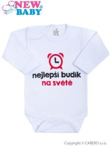 Body New Baby Nejlepší budík na světě , Barva - Biela , Velikost - 80
