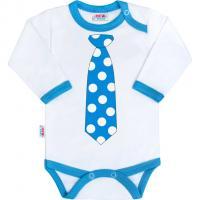 Body New Baby s tyrkysovou kravatou , Barva - Tyrkysová , Velikost - 56