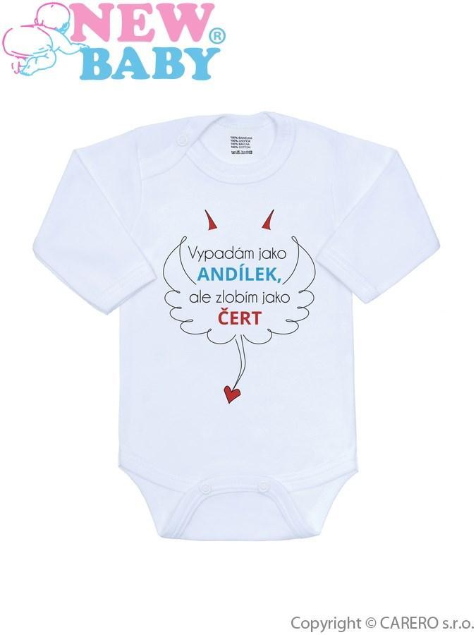 85833779d dojčenské body s nápisom , Barva - Biela , Velikost - 56, New Baby ...