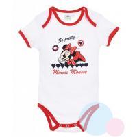 Body Minnie , Barva - Bielo-červená , Velikost - 62