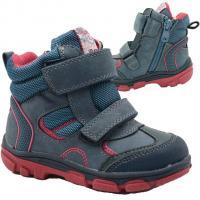 Boty zimní Bugga , Velikost boty - 22 , Barva - Červeno-modrá
