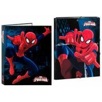 Box na zošity a zakladač Spiderman , Barva - Čierna