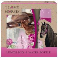 BOX NA SVAČINU A LÁHEV NA PITÍ Koně , Barva - Ružová