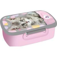 Box na svačinu Kočička , Barva - Šedo-růžová